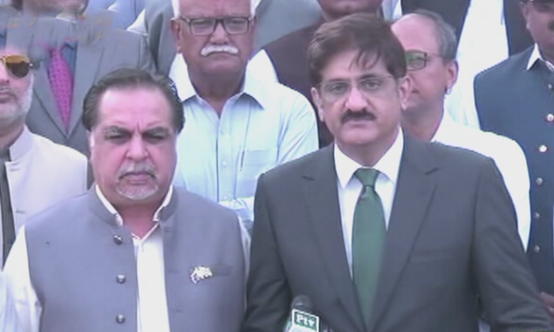 گورنر اور وزیراعلیٰ سندھ نے مزار قائد پر حاضری دی—اسکرین شاٹ