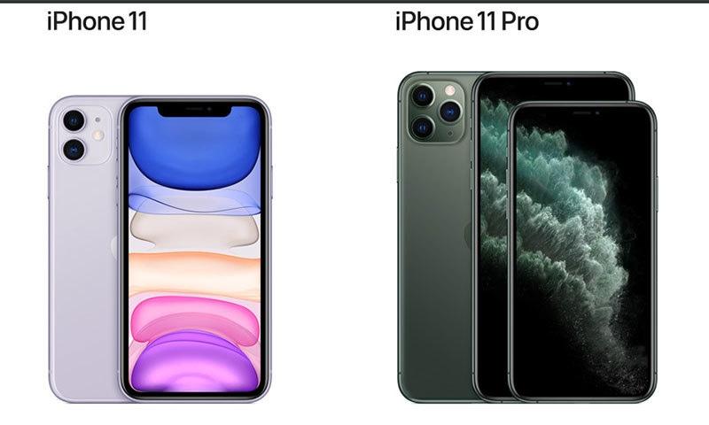 آئی فون سیریز کے تینوں فونز — فوٹو بشکریہ ایپل