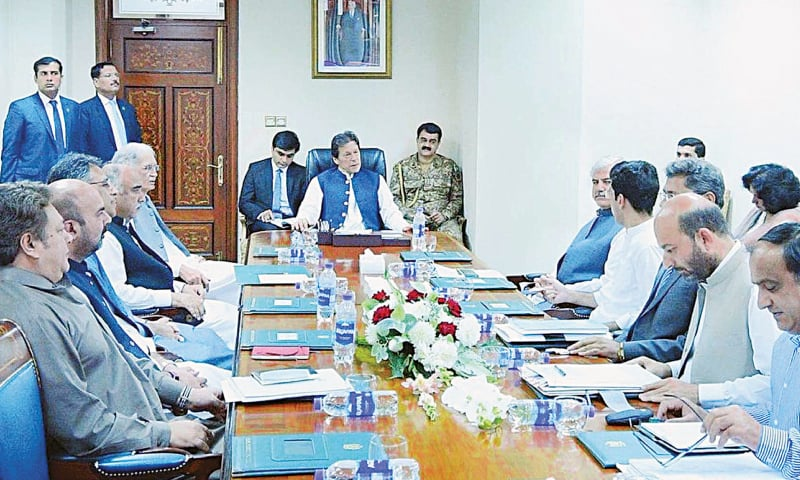 ISLAMABAD: Prime Minister Imran Khan chairs a meeting on the local government system at PM Office on Wednesday.—PPI