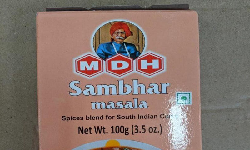 The contaminated lot of MDH's sambhar powder was distributed in some northern Californian stores, the US Food and Drug Administration (FDA) saidsaid in a statement late on Wednesday.  — Photo courtesy FDA website