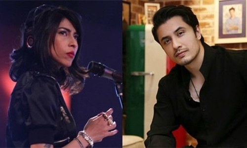 A high-profile sexual-harassment scandal that rocked Hollywood landed in a Lahore's sessions court on Thursday when singer Meesha Shafi's legal counsel defending her in a defamation suit by fellow singer/actor Ali Zafar asked a woman prosecution witness about the allegations on movie mogul Harvey Weinstein by famous actresses Angelina Jolie and Gwyneth Paltrow. — Dawn.com/File