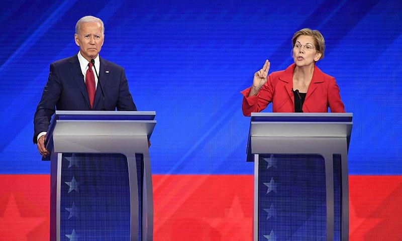 Biden fights off rivals in Democratic 2020 debate