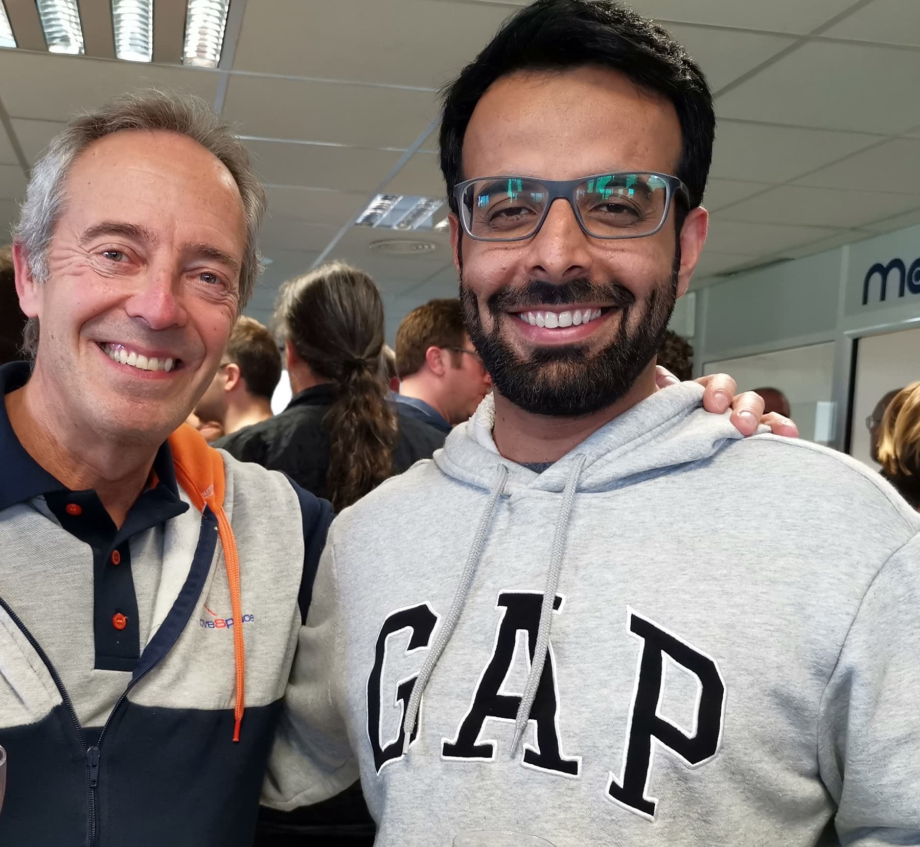 Dr Samad with renowned ESA astronaut Jean-François Clervoy. — Photo courtesy: ESA