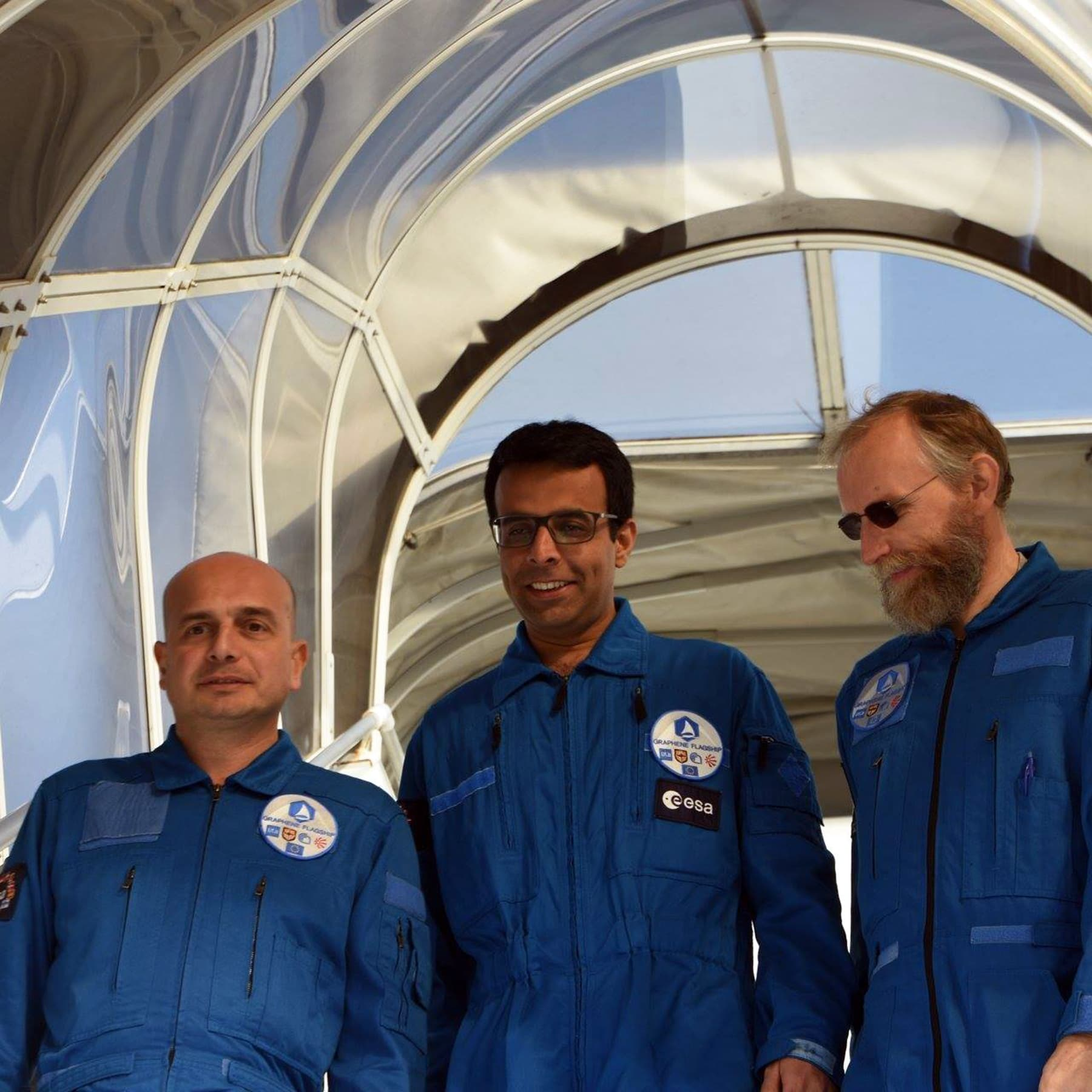 Dr Samad with colleagues at the European Space Agency (ESA). — Photo courtesy: ESA