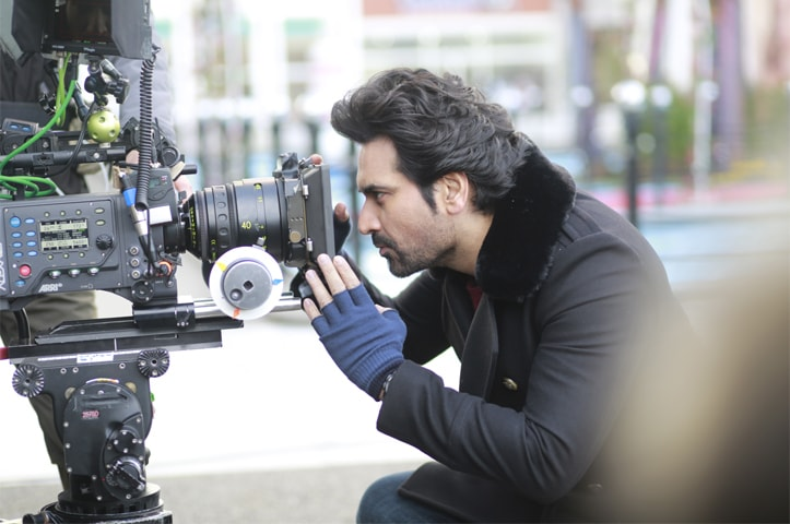 Humayun Saeed on the sets of Jawani Phir Nahin Aani 2