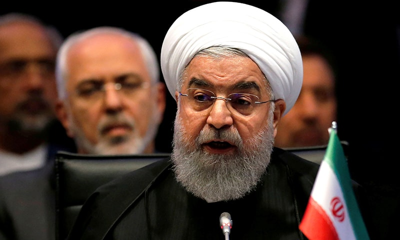 In this file photo, Iran's President Hassan Rouhani speaks during an extraordinary meeting of the Organisation of Islamic Cooperation (OIC) in Istanbul, Turkey, December 13, 2017. — Reuters