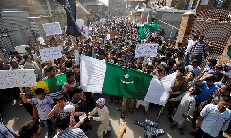 ھارتی حکومت کے خلاف روزانہ کی بنیاد پر اوسطاً 20 احتجاجی مظاہرے کیے جارہے ہیں—تصویر: رائٹرز