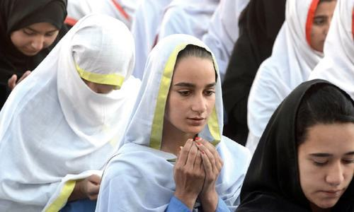 Following widespread public criticism, the Khyber Pakh­tunkhwa government deci­ded on Monday night to withdraw its earlier province-wide order instructing female students of secondary and higher secondary government educational institutions to wear the veil. — Photo by Abdul Majeed Goraya/File