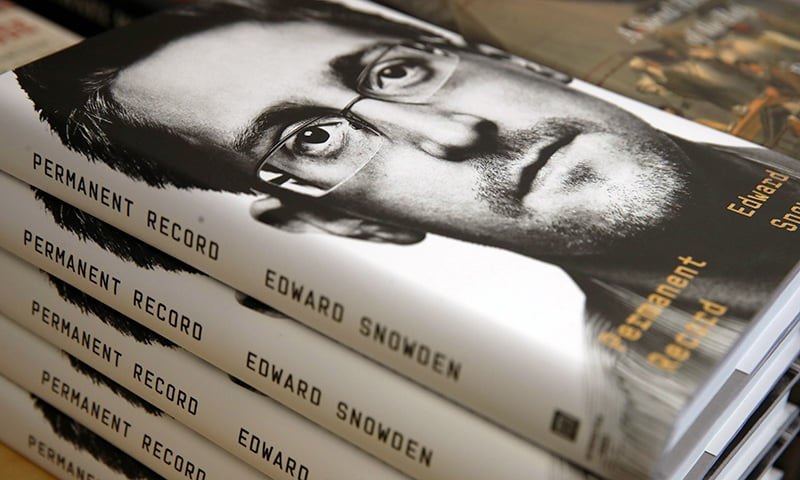 "Newly released ""Permanent Record"" by Edward Snowden is displayed on a shelf at Books Inc. on Tuesday in San Francisco, California. — AFP"