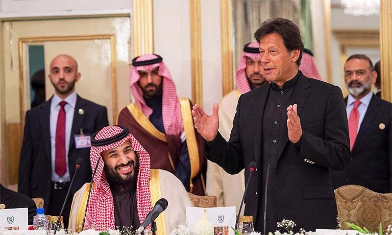 Before his planned visit to Saudi Arabia, Prime Minister Imran Khan on Tuesday made a phone call to Saudi Crown Prince Mohammad bin Salman and strongly condemned the drone attacks on the Saudi oil processing facility and oil field. — Photo courtesy Arab News Twitter/File