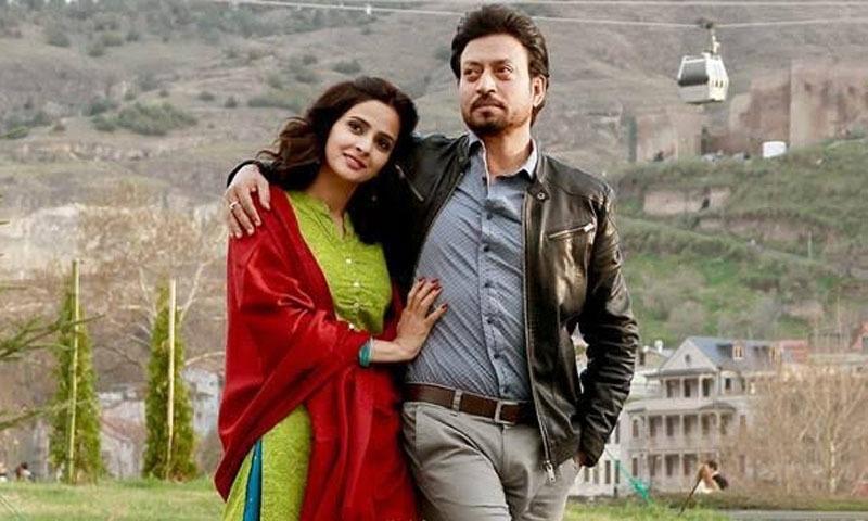 ہندی میڈیم میں صبا قمر عرفان خان کے ہمراہ نظر آئیں