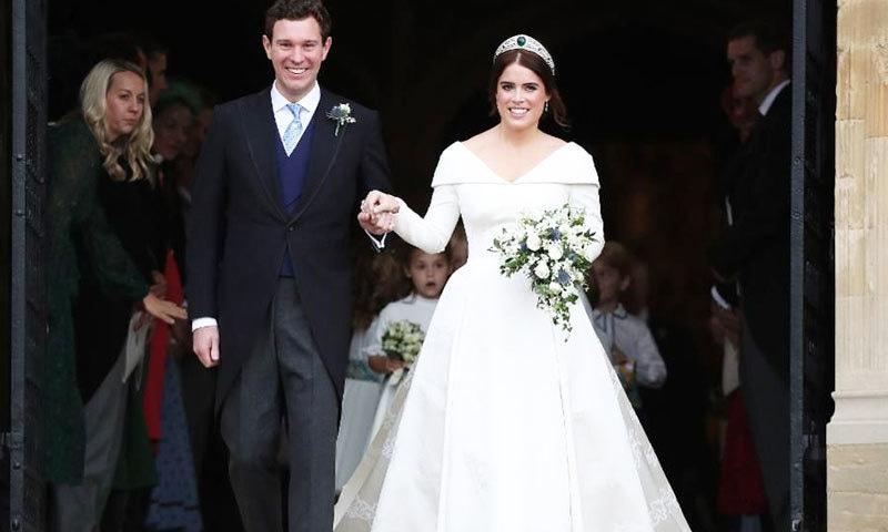 شہزادی یوجینی ملکہ برطانیہ کی پوتی اور ولیم و ہیری کی کزن ہیں—فوٹو: اے ایف پی