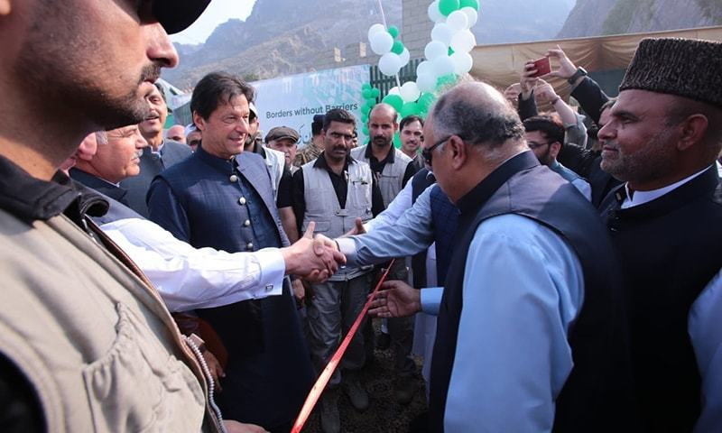 Prime Minister Imran Khan inaugurates the 24/7 Torkhan border crossing on Wednesday. — Photo courtesy PTI Twitter/File