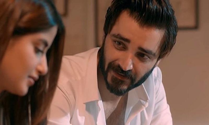 ڈرامے میں سجل علی اور حمزہ علی عباسی نے اہم کردار نبھائے — فوٹو: اسکرین شاٹ