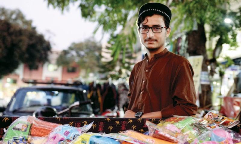Mohammad Tayyab, 17, vendor