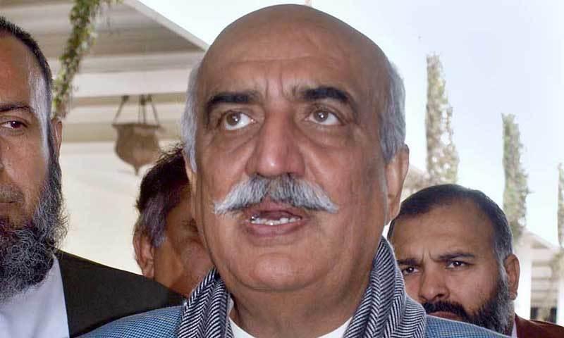 پاکستان پیپلز پارٹی کے سینئر رہنما خورشید شاہ پر آمدن سے زائد اثاثے بنانے کا الزام ہے— فائل فوٹو: اے پی پی