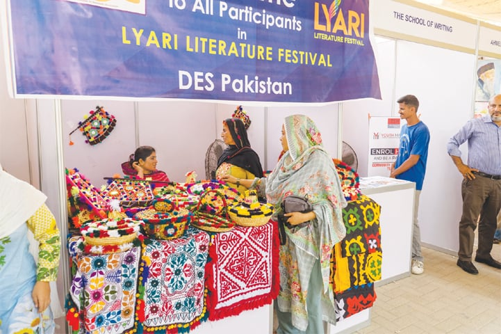 A VISITOR checks out different handicrafts at one of the stalls at the festival on Saturday.—White Star