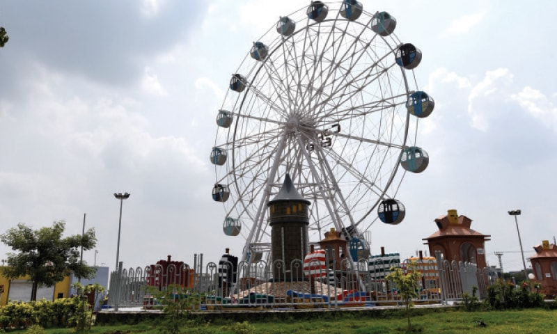 The Capital Eye ferris wheel is one of the park's biggest attractions.