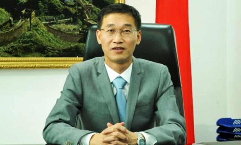 Speaking on the occasion, Chinese Ambassador Yao Jing said China was also celebrating the seven decades of friendship with Pakistan. He said China would continue supporting Pakistan for getting justice for the people of Kashmir.  — Photo courtesy Radio Pakistan/File