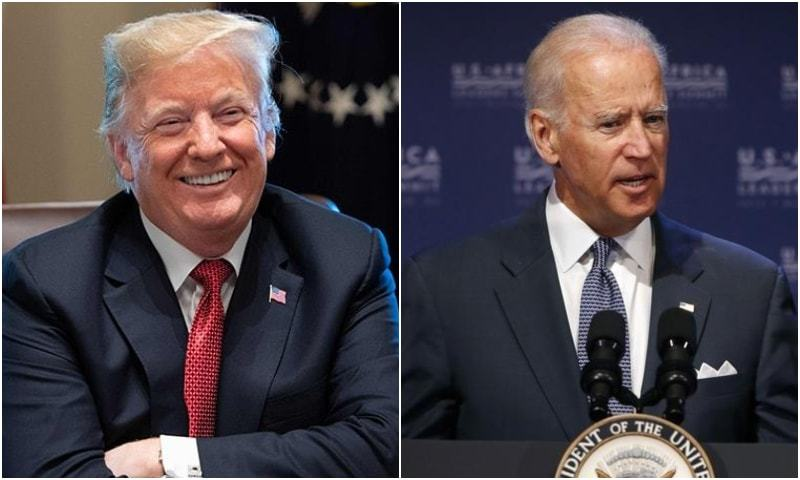 "Joe Biden accused Donald Trump Saturday of ""an overwhelming abuse of power"" and called for an investigation into accusations the US leader pressured his Ukrainian counterpart to investigate the presidential candidate's son. — Photos courtesy agencies"