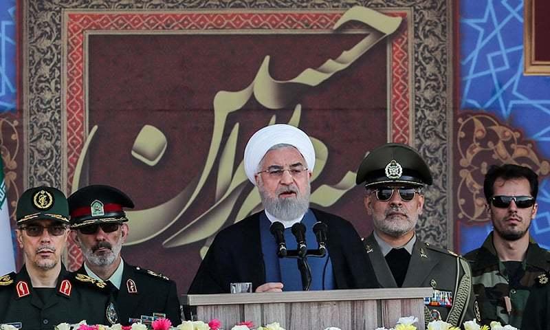ایرانی صدر کے مطابق غیر ملکی فورسز کی خطے میں موجودگی سے تیل اور اس کی ترسیل میں عدم تحفظ پیدا ہوگا — فوٹو: اے ایف پی