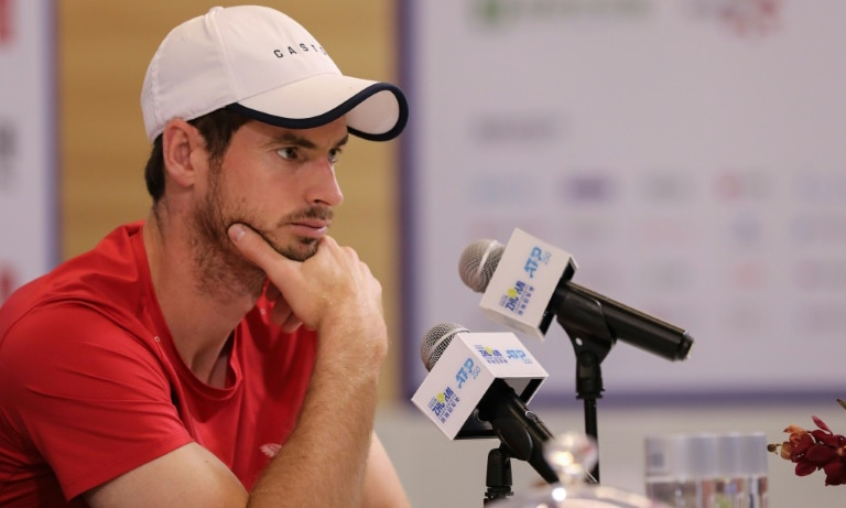 Andy Murray says he is taking his comeback from injury one game at a time. — AFP