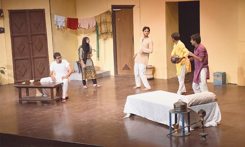 A scene from the play Chacha Chhakkan.—Faysal Mujeeb