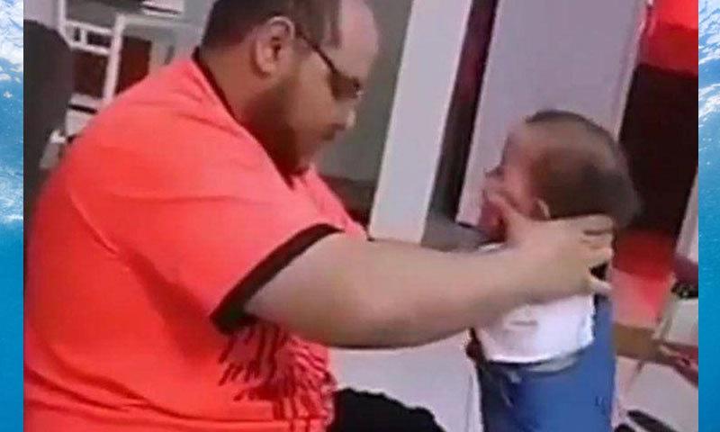 بچی کو اپنے پاؤں پر کھڑا نہ ہونے کی وجہ سے ملزم نے ان پر تشدد کیا —اسکرین شاٹ