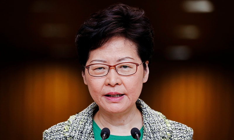 Hong Kong's Chief Executive Carrie Lam attends a news conference in Hong Kong, China September 24, 2019. REUTERS/Jorge Silva