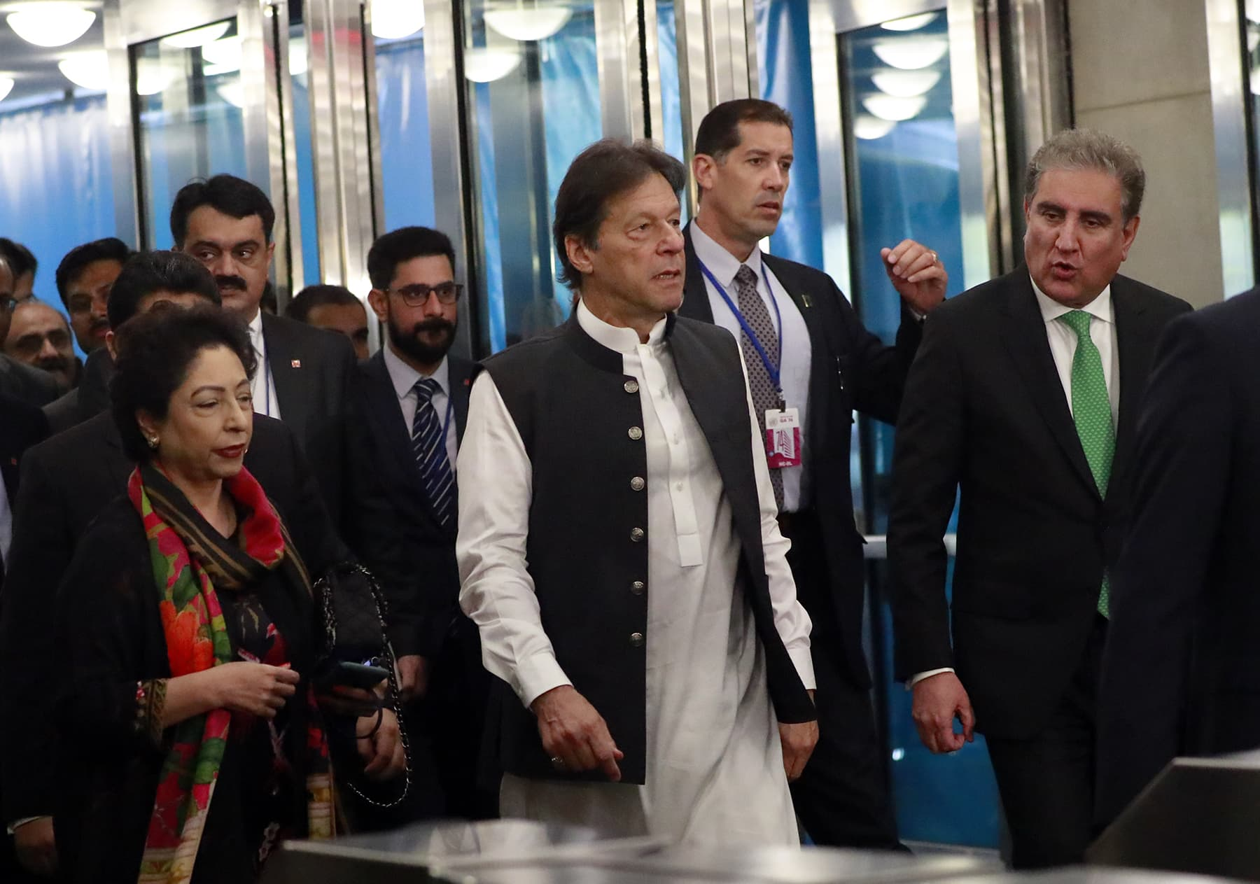 Prime Minister Imran Khan arrives ahead of the start of the 74th session of the United Nations General Assembly at UN headquarters in New York City, New York, on Tuesday. — Reuters