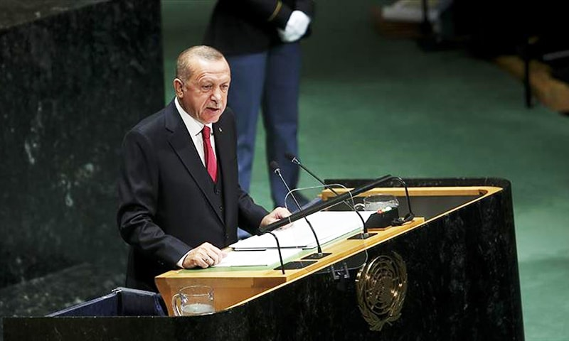 Turkish President Recep Tayyip Erdogan addressing the global community. — Anadolu Agency