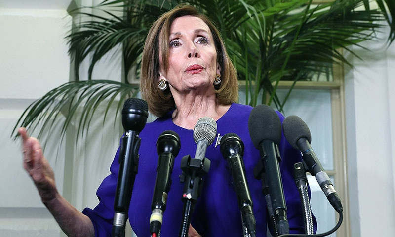 Speaker of the House Nancy Pelosi (D-CA) speaks to the media after a meeting with the House Democratic caucus after she announced that House Democrats will start an impeachment injury of US President Donald Trump, on September 24 in Washington, DC. — AFP