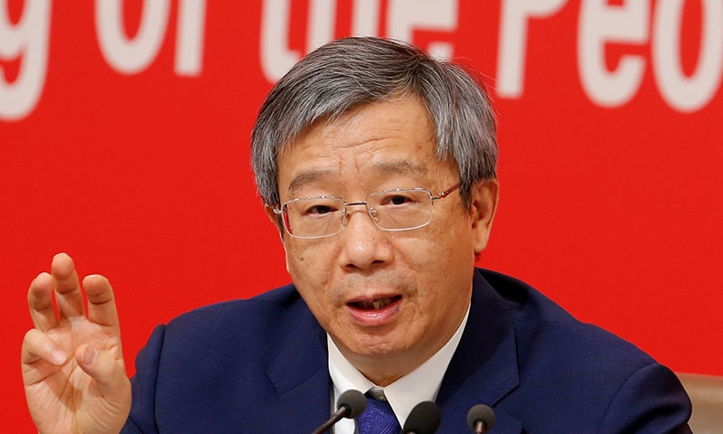 Governor of People's Bank of China (PBOC) Yi Gang attends a news conference on China's economic development ahead of the 70th anniversary of its founding, in Beijing, China on September 24. — Reuters