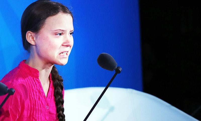 Greta Thunberg speaks at the United Nations where world leaders held a summit on climate change on September 23. — AFP/File