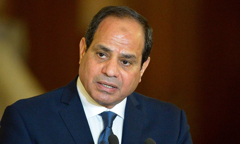 In this file photo taken on March 02, 2017, Egyptian President Abdel Fattah al-Sisi speaks at a press conference with Germany's chancellor, following their meeting in Cairo. — AFP