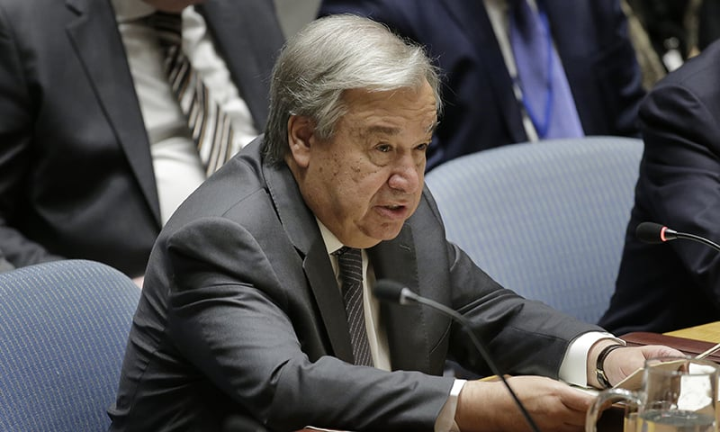 United Nations Secretary-General Antonio Guterres speaks during a Security Council meeting at UN headquarters on Wednesday, September 25, 2019. — AP