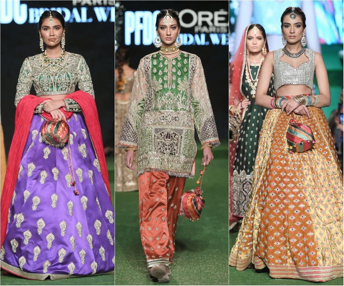 حسن ریہار نے مختلف رنگوں کی ملبوسات پیش کیں
