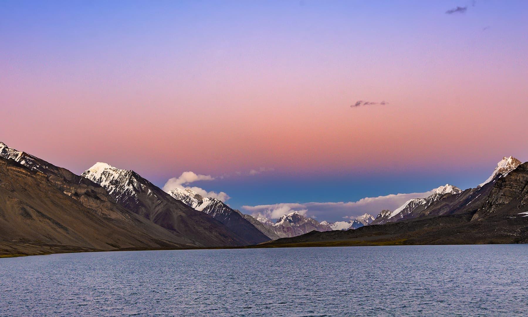 جھیل اور غروبِ آفتاب—سید مہدی بخاری