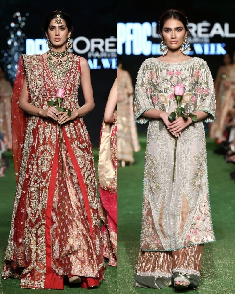 سائرہ شکیرا کی جانب سے پیش کیے گئے عروسی جوڑوں کو بھی سراہا گیا