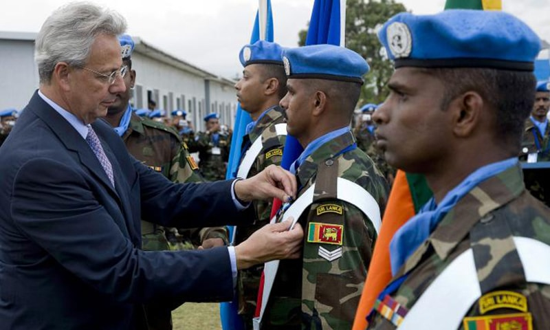 Some 490 Sri Lankan troops are currently deployed for peacekeeping operations in Mali, Lebanon and Sudan.  Photo courtesy: lk.one.un.org