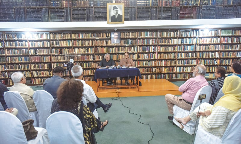 THE lecture under way at the PIIA on Thursday.—White Star