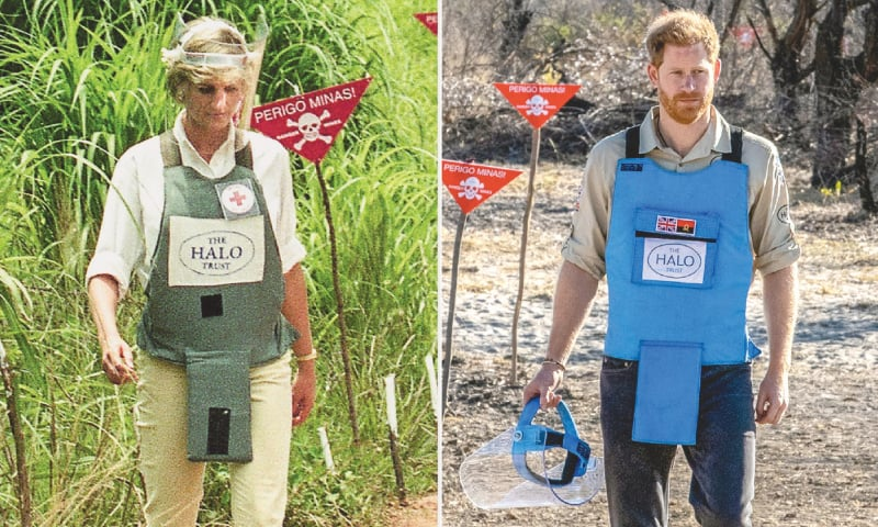 Harry rekindles Diana's memory, walks through Angola minefield