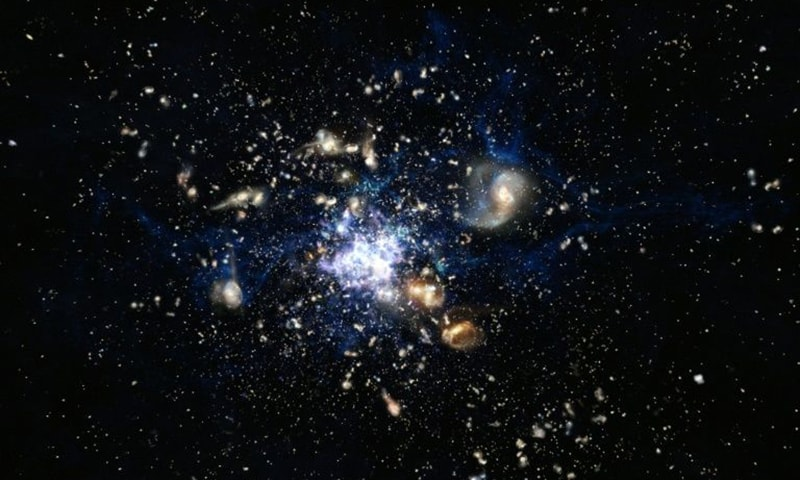 Scientists discover oldest galaxy cluster
