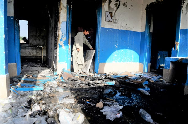 People are suspicious of polio vaccines around the country. Peshawar's Basic Health Unit Mashokhel was burnt in April in response to rumours about polio vaccines | White Star
