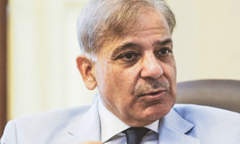 "Leader of the Opposition in the National Assembly Shehbaz Sharif tells world to beware of ""fascist Modi"". — DawnNewsTV/File"