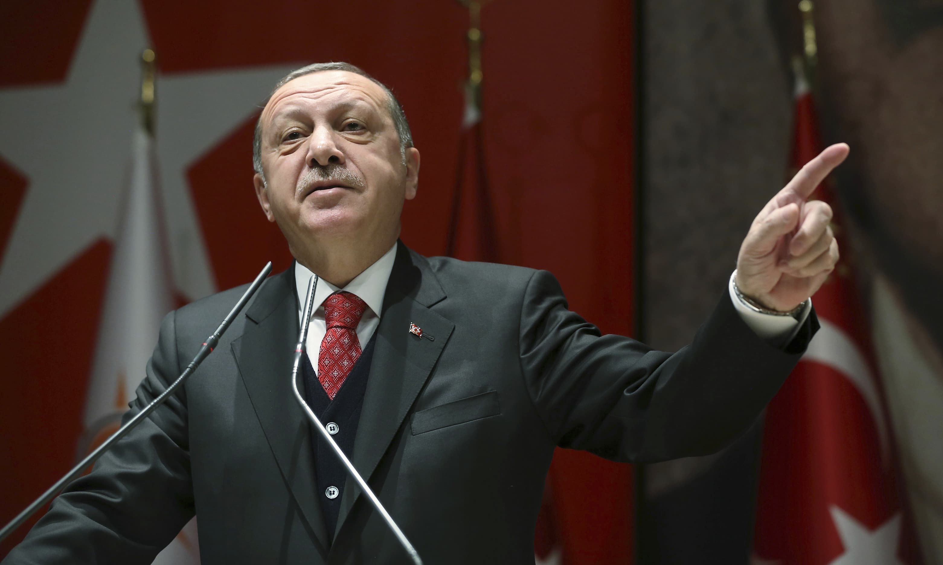 "In a Washington Post op-ed, Turkish President Recep Tayyip Erdogan says agents of a ""shadow state"" in KSA were behind Khashoggi's murder. — AP/File"