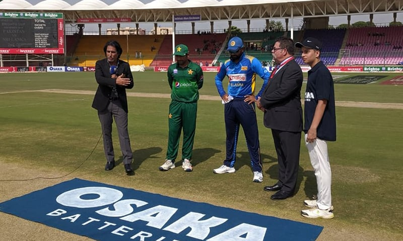 Pakistan won the toss and opted to bat first against Sri Lanka in the second One-day International at National Stadium in Karachi on Monday. — Photo courtesy PCB Twitter