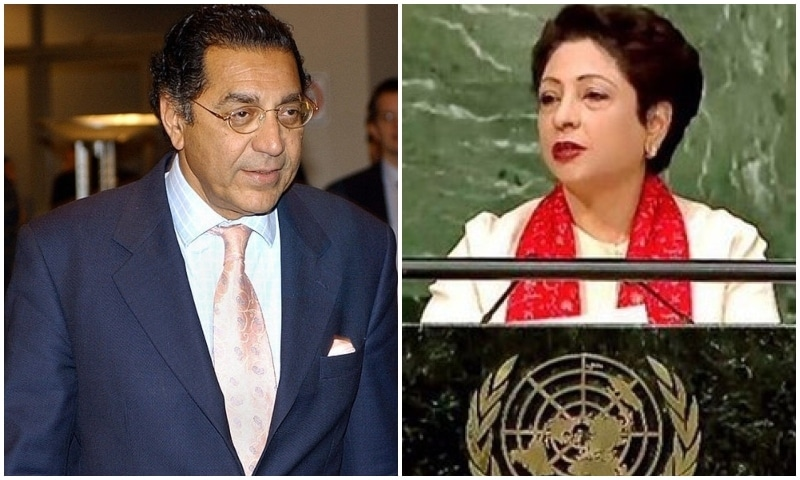 Munir Akram (L) will replace Dr Maleeha Lodhi, who has served as Pakistan's ambassador  to the UN since February 2015. — AFP/Maleeha Lodhi Twitter