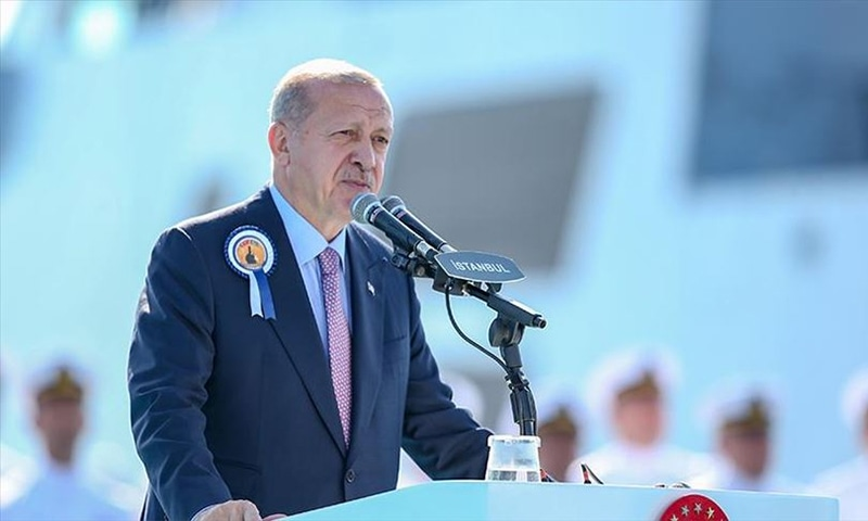 Turkey's President Recep Tayyip Erdogan sees great potential for defence partnership between Pakistan and Turkey, decries situation in occupied Kashmir. — Anadolu Agency