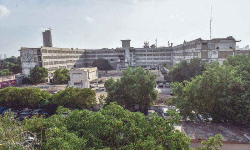 THE hotel's basic structure still stands tall against the sprawling gardens where people used to host tea parties and musical soirees.—Fahim Siddiqi/White Star